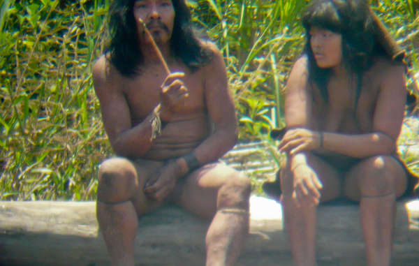 Indígenas mascho-piros vistos de cerca, Perú.