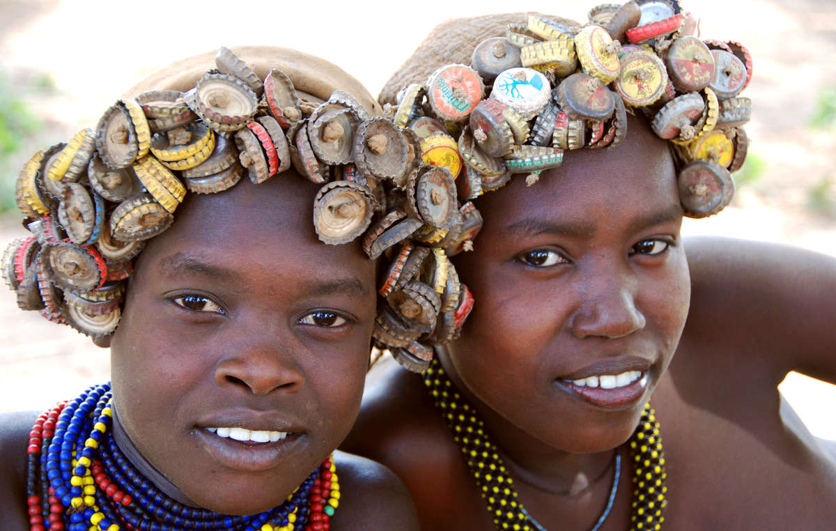 Two Dassanach girls in the Omo Valley. They are one of many tribes under threat.