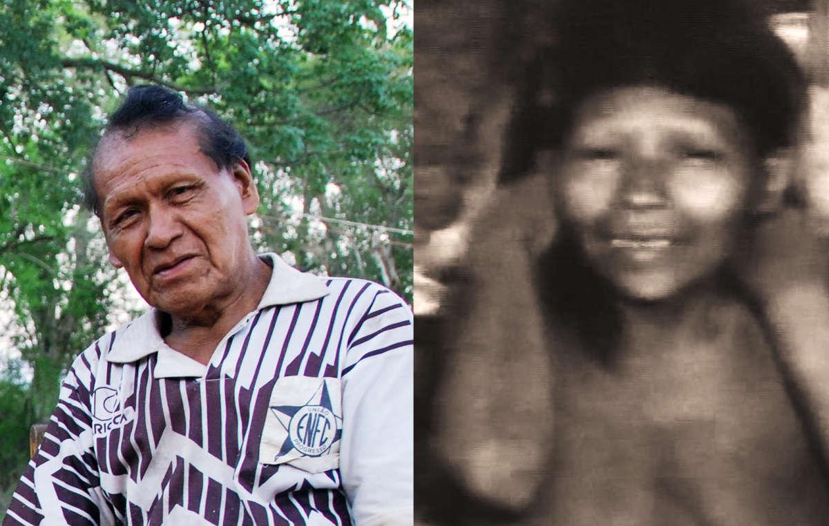 Links: Erui im Jahr 2012. Rechts: Seine Frau Banjo im Jahr 1986, kurz nachdem sie gefasst wurde.