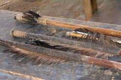 Arrows that once belonged to uncontacted Indians in south-east Peru.