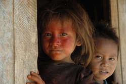 Ashéninka children, Yurua River, Peru.