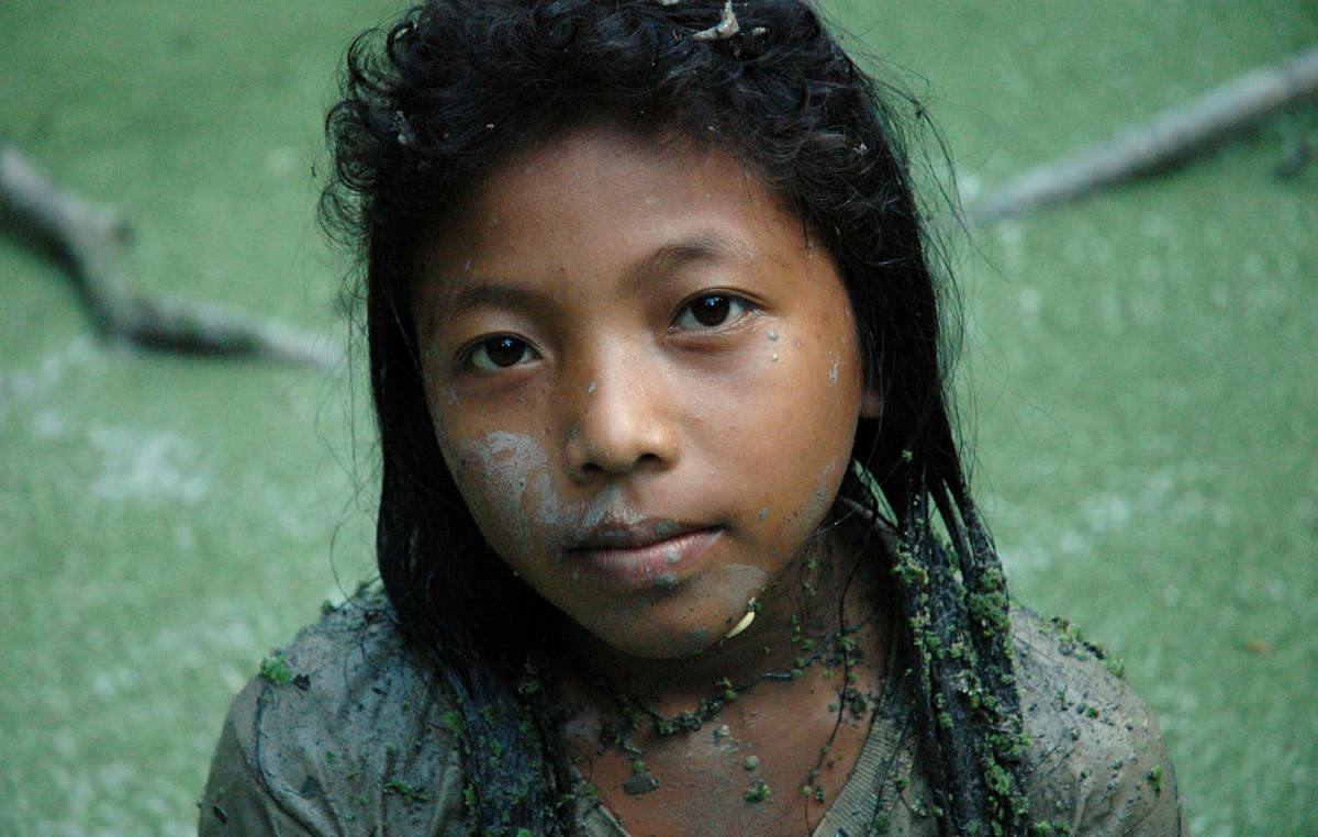 A Cashinahua girl in Perus Purus area. Shes one of thousands of Indians in danger.