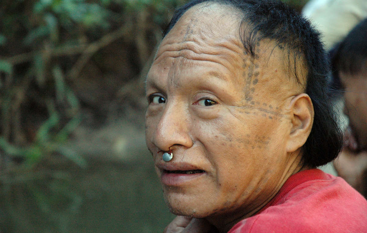 A recently contacted Mastanahua man. If the plans go ahead, many more tribal people in the Amazon Uncontacted Frontier will face the catastrophe of first contact.