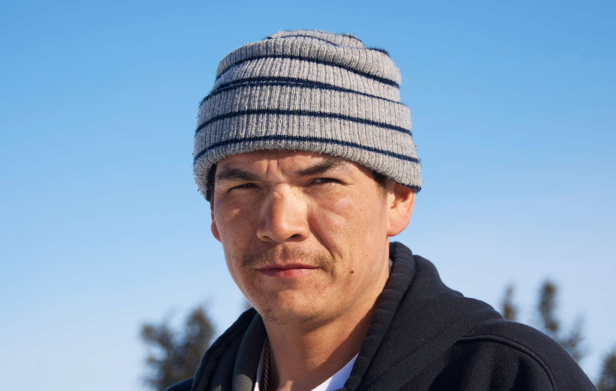 Giant (Michel Andrew), who aims to connect young Innu with 'nutshimit'.