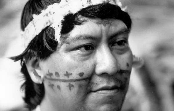 Davi Kopenawa, Yanomami spokesman and shaman from Watoriki, Brazil.