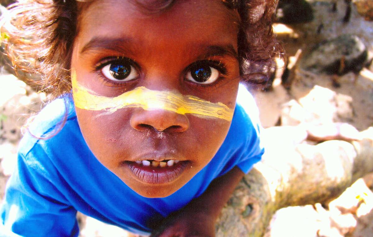 Bambino Aborigeno, Australia.