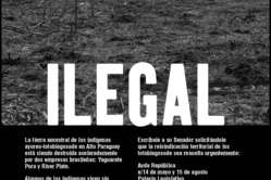 Publicité de Survival dans le principal journal paraguayen, Ultima Hora