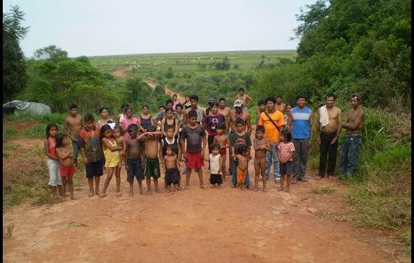 Guarani Indians of Ypo'i community in Brazil.