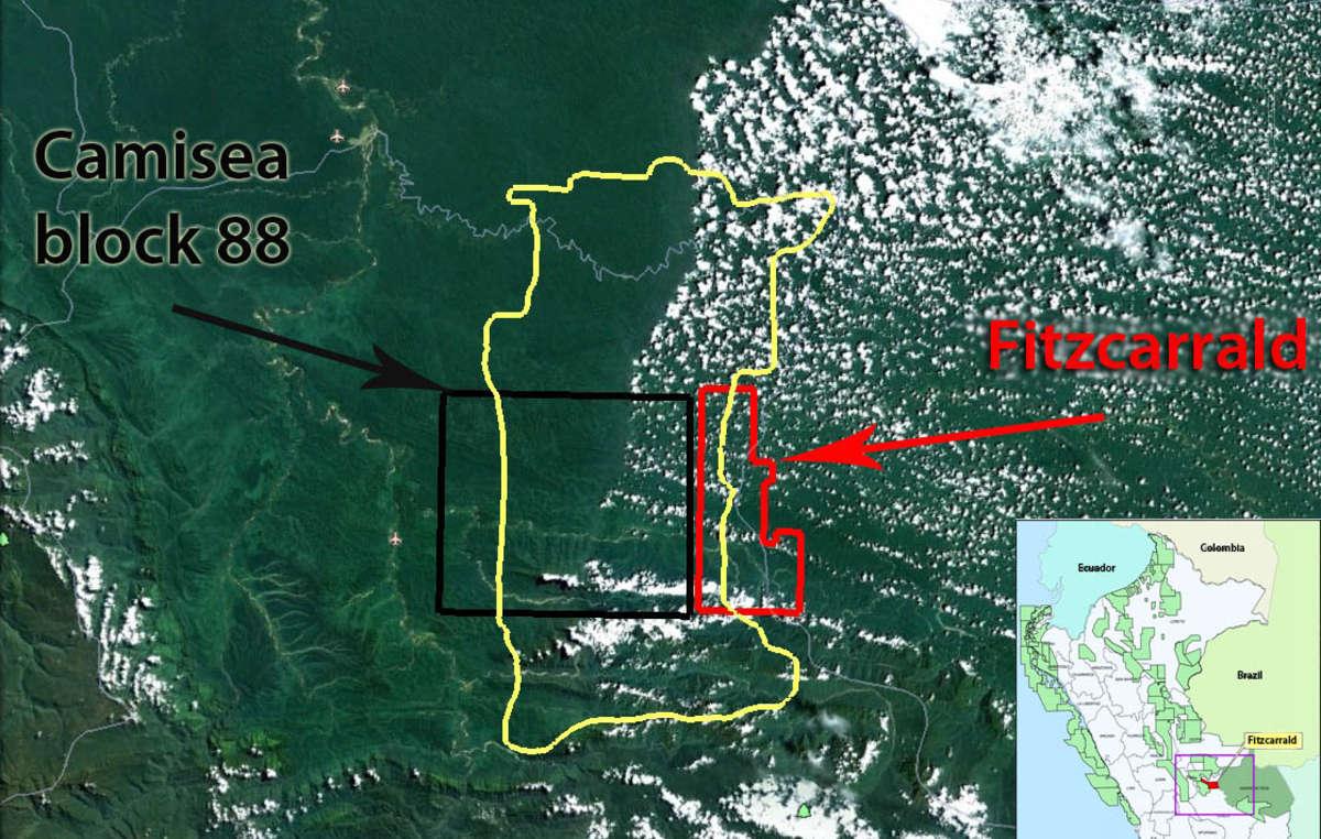 Il lotto Fitzcarraldo penetrerà fino al cuore della riserva, tagliando in due il territorio delle tribù incontattate.