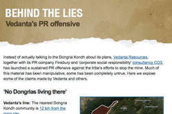 'Behind the lies' - Survival's new website debunking Vedanta's PR offensive