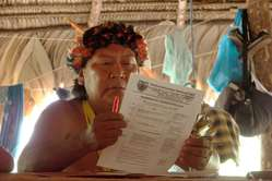 Davi Kopenawa Yanomami is appealing to governments to sign ILO 169