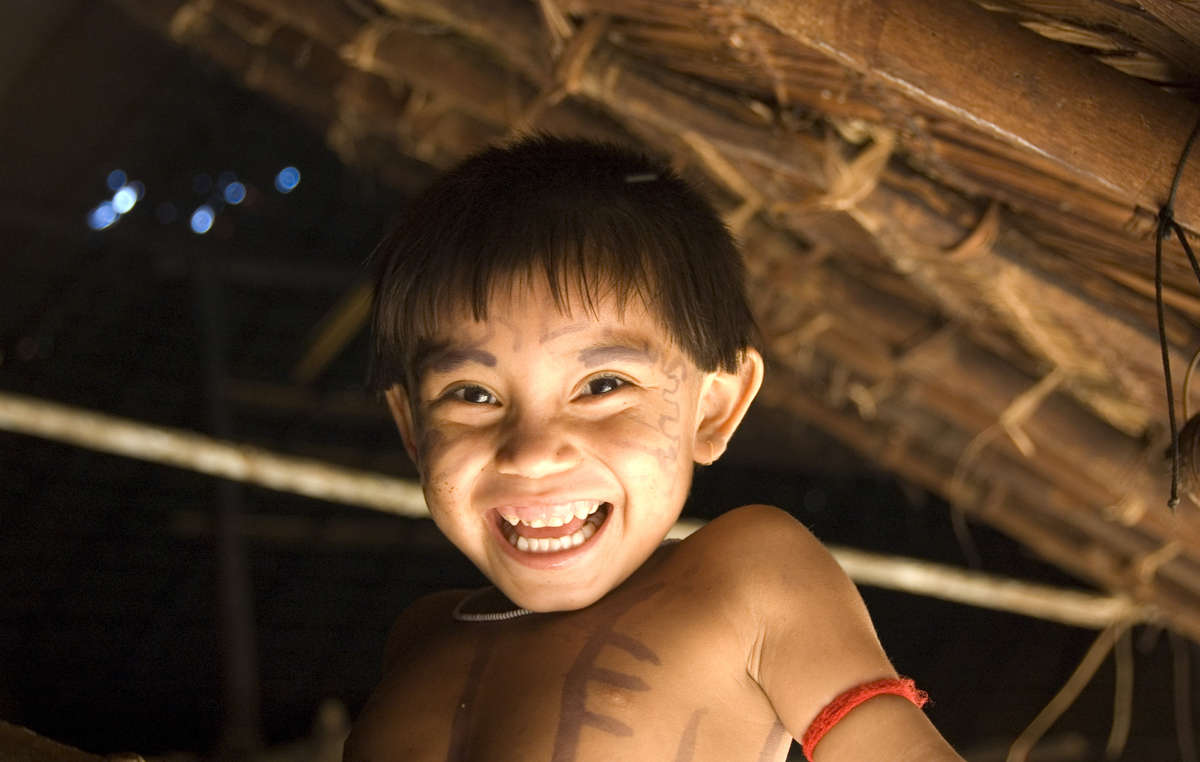 Yanomami boy, Brazil