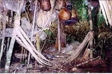 Die Kawahiva errichteten provisorische Lager, bevor sie weiterzogen, um den Eindringlingen zu entkommen.