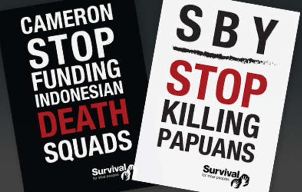 Survival's protest will coincide with the arrival of Indonesia's President in London.