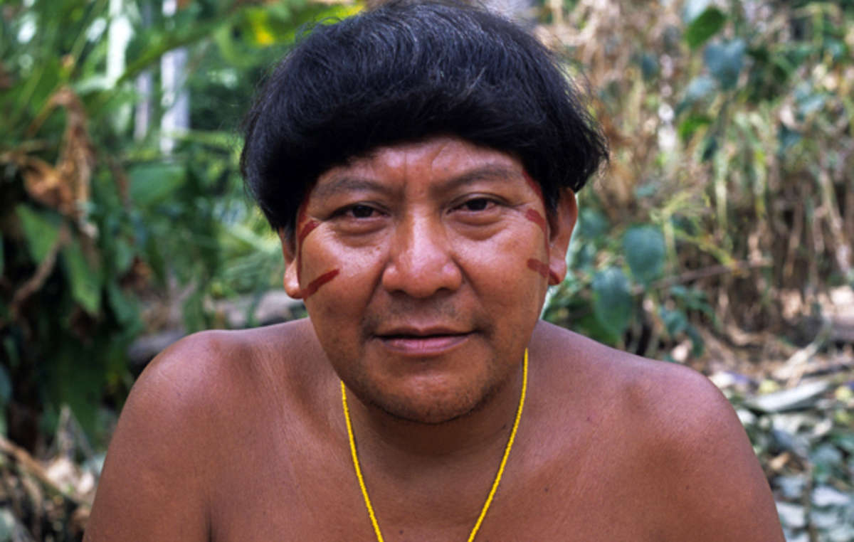 Davi Kopenawa is a Yanomami shaman and spokesman.