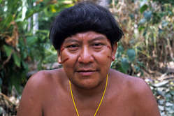 Davi Kopenawa, shaman and spokesman of the Yanomami tribe, Brazil. Davi is also the President of Hutukara Yanomami Association.