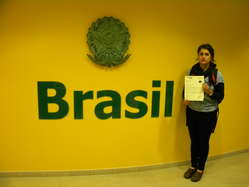 """""""Protesters in San Francisco, California handed in a letter to the Brazilian consulate."""""""