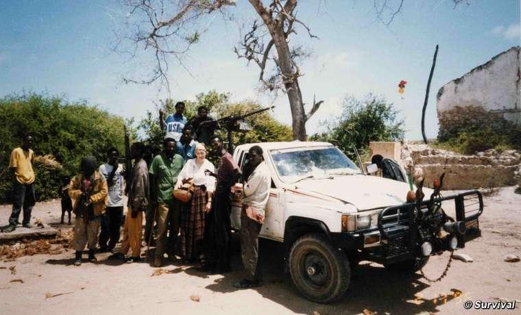 Haciendo gala de un coraje exento de ostentación, Virginia hizo varios viajes a Somalia durante la guerra civil, y en una ocasión el señor de la guerra de la región incluso le proporcionó guardaespaldas.