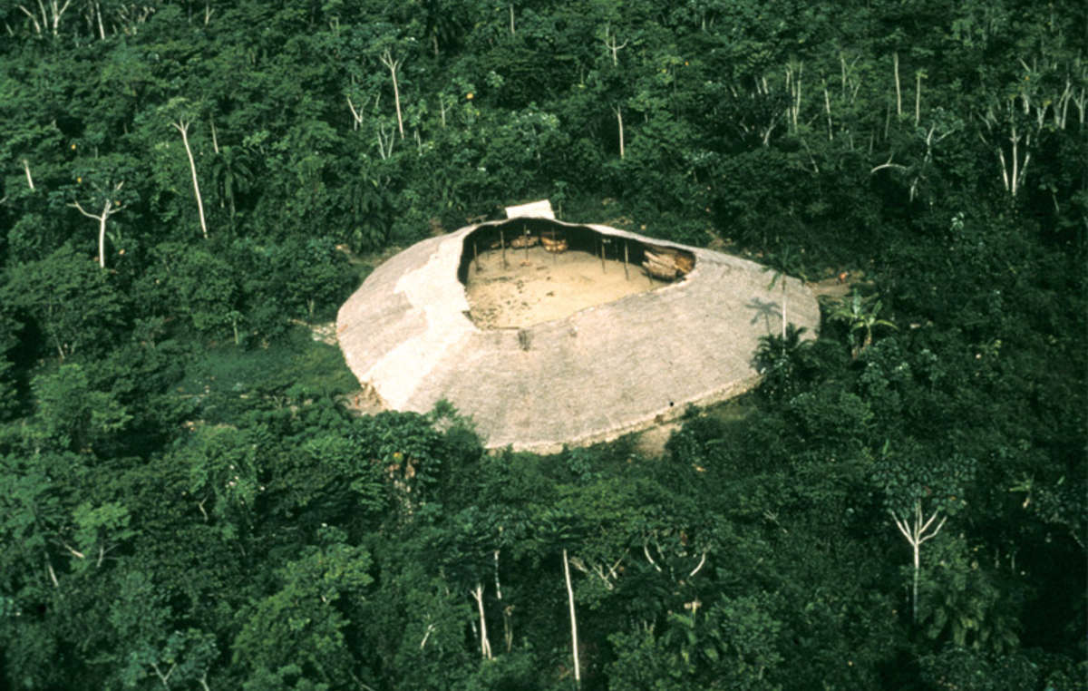The Yanomami live in large communal houses.