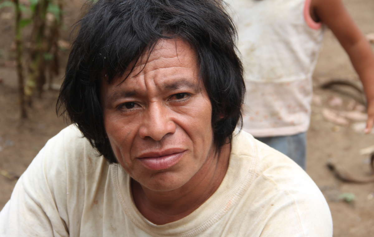 Plans to explore for natural gas in the Nahua-Nanti Reserve threaten the uncontacted relatives of this Nanti man.