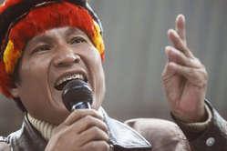 Alberto Pizango, leader indien de lorganisation Aidesep