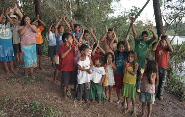 The Guarani of Pyelito Kuê community have returned to part of their ancestral land, forcing out a rancher.