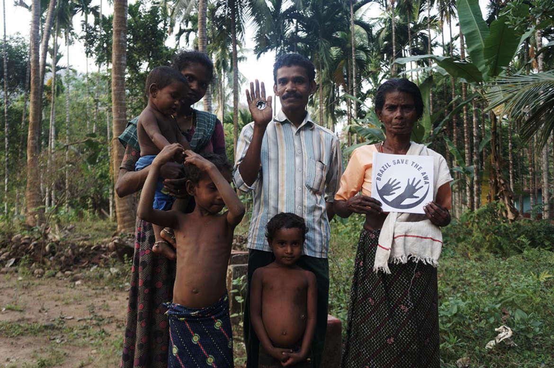 Eine Kattunayakan-Familie in Indien