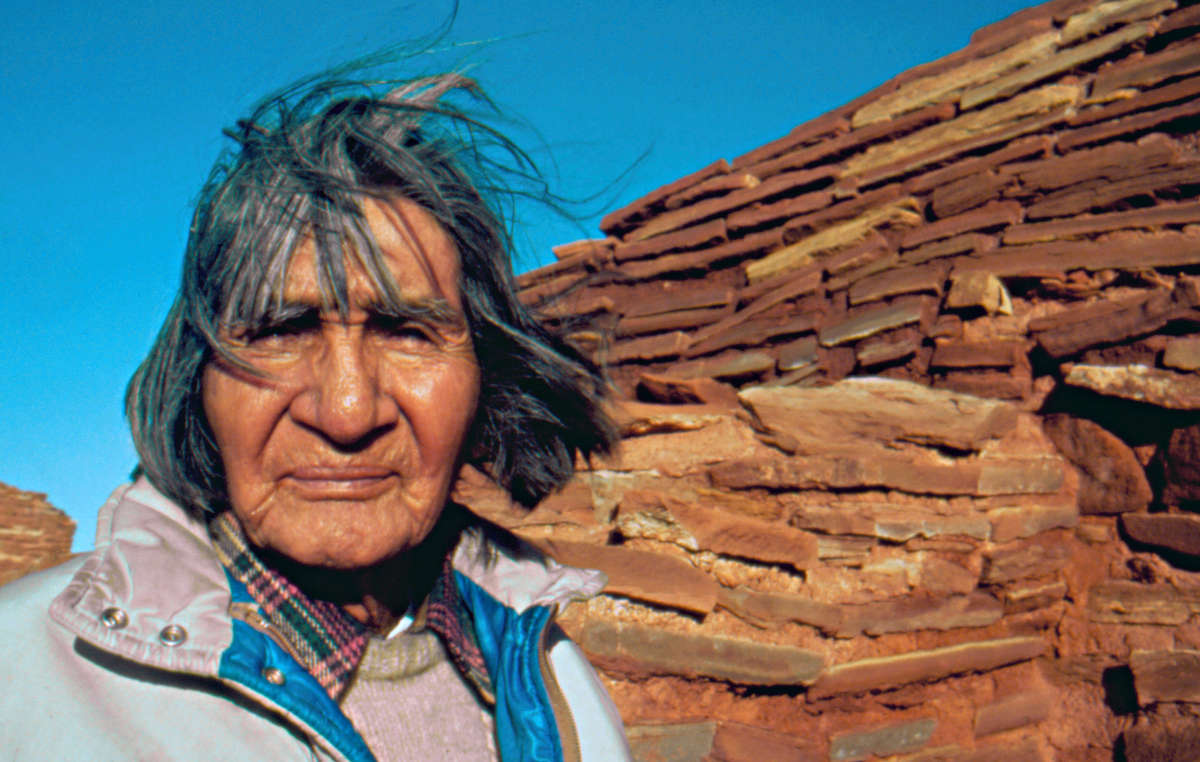 Hopi elder James Kootshongsie, who died in 1996. The Hopi are vehemently opposed to the sale of the tribes sacred objects in a Paris auction house.