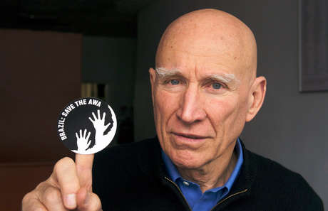 Brazilian photographer Sebastião Salgado showing his support for the Awá, the world's most threatened tribe.