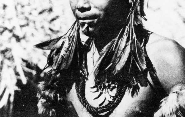 Umutima shaman, Brazil, 1957. In 1969, most of the Umutima were wiped out by a flu epidemic.