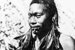 Umutima-Schamane, 1957. 1969 wurden fast alle Umutima durch eine Grippe-Epidemie getötet.