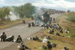 The protest at Bagua, Peru.