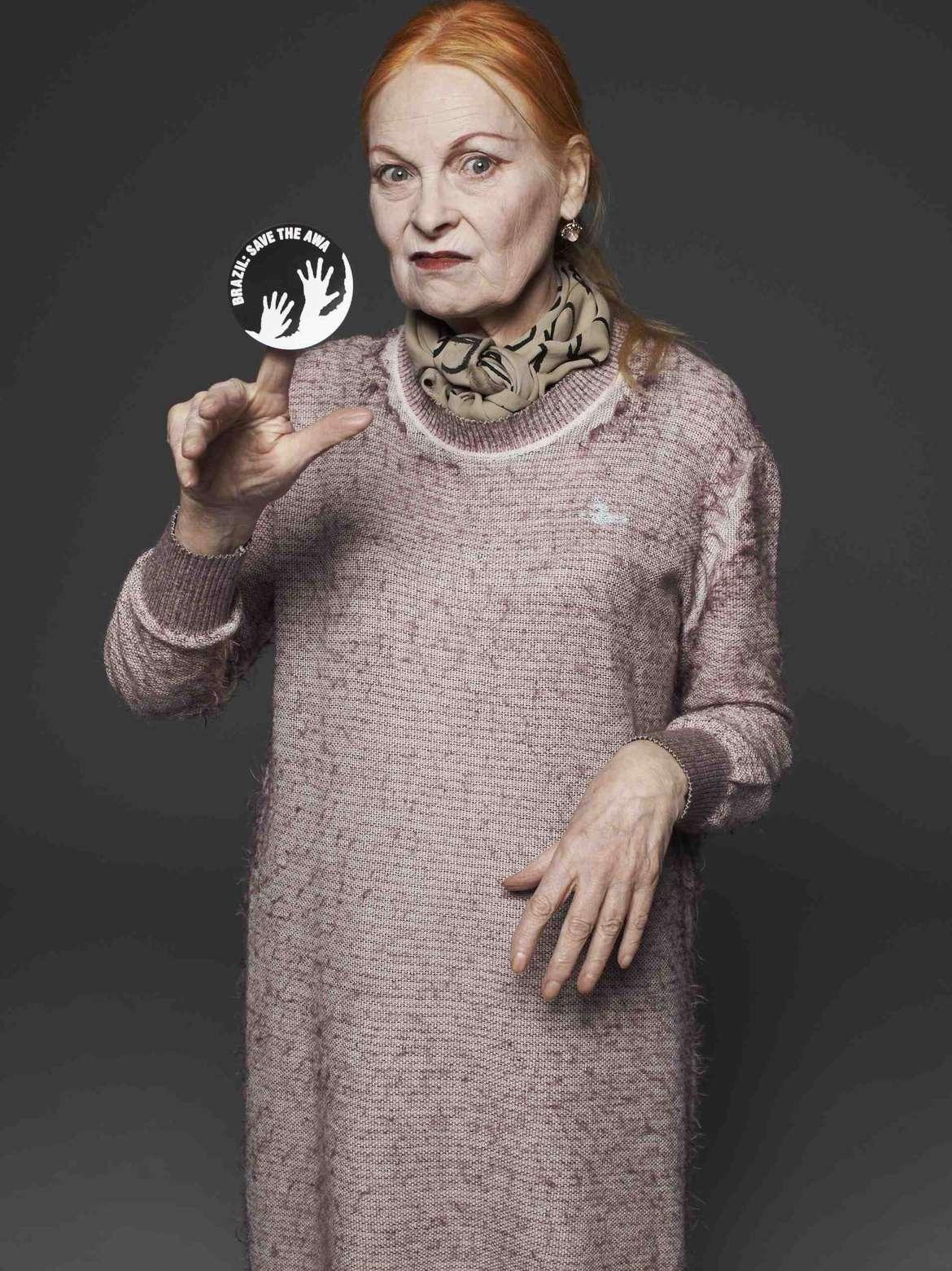 Modeikone Vivienne Westwood unterstützt die Awá (Bild darf nur im Rahmen von Survivals Awá-Kampagne genutzt werden)