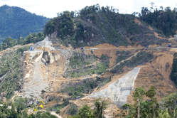 Construction of the Murum dam on the Penans land is well underway