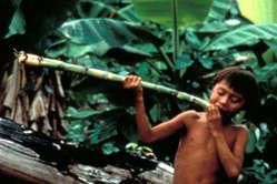 Jeune Yanomami, Brésil.