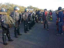 The Ayoreo blocking the Pan-American Highway to protest the illegal invasion of their land