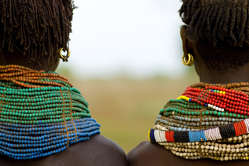 The Nyangatom people live on the Omo river banks in south Ethiopia.