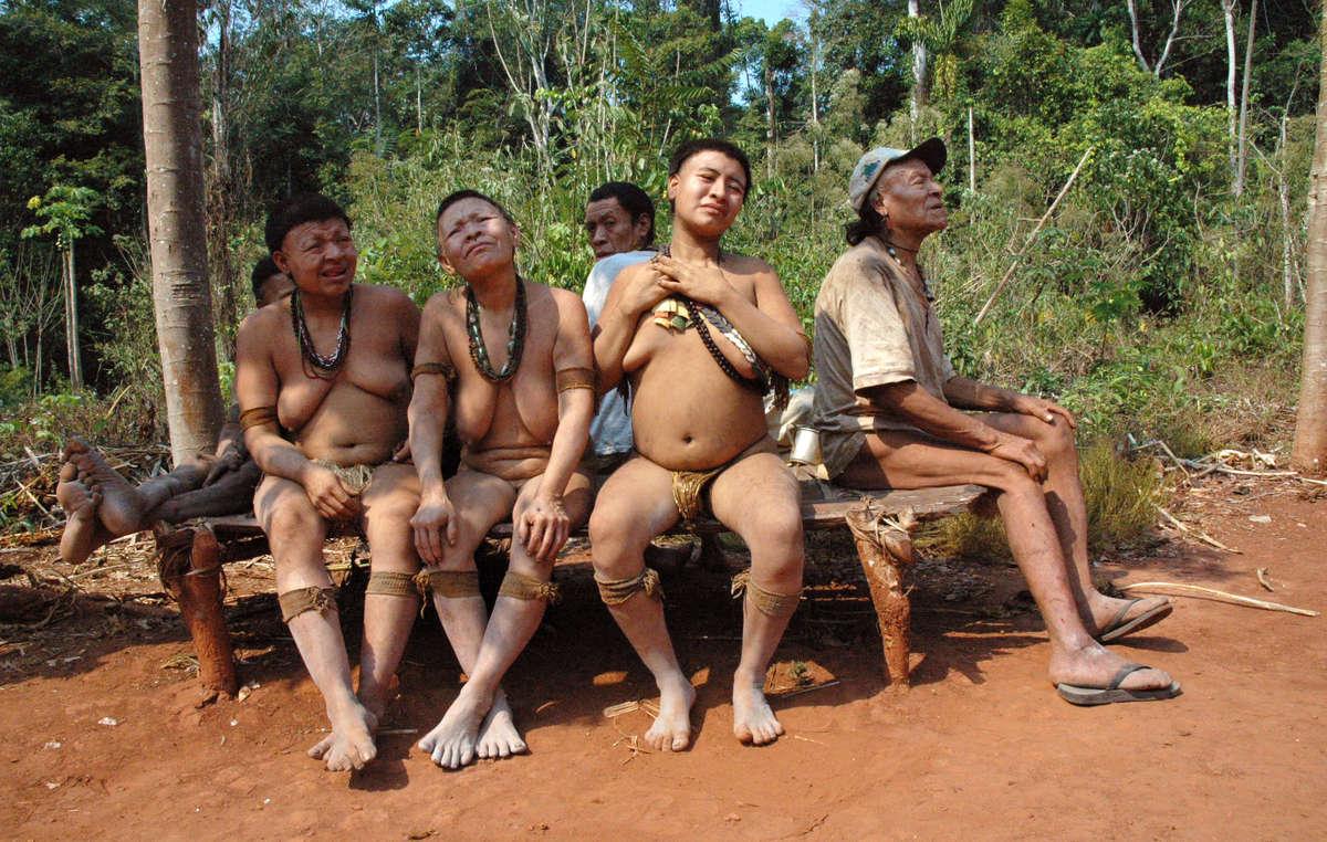 Ces cinq Akuntsu sont les derniers survivants dun génocide silencieux, Brésil.