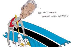 Le président Khama balaie la question des Bushmen.