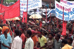 3,000 marched against Vedanta at yesterday's rally.