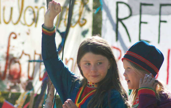 Sweden's Sámi people are protesting against iron ore mining on their lands.