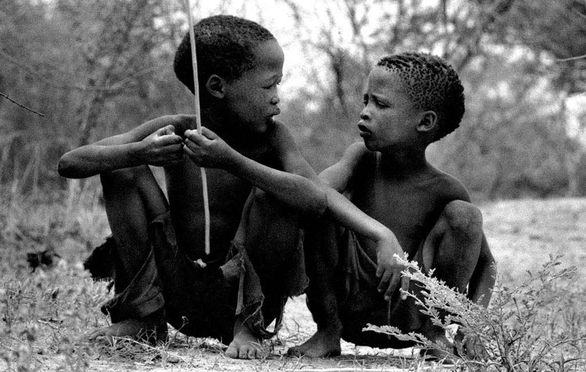 Enfants bushmen, Namibie.