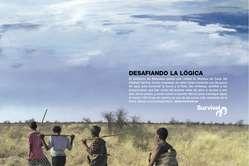 Survival lanza una campaña publicitaria denunciando la situación de los bosquimanos
