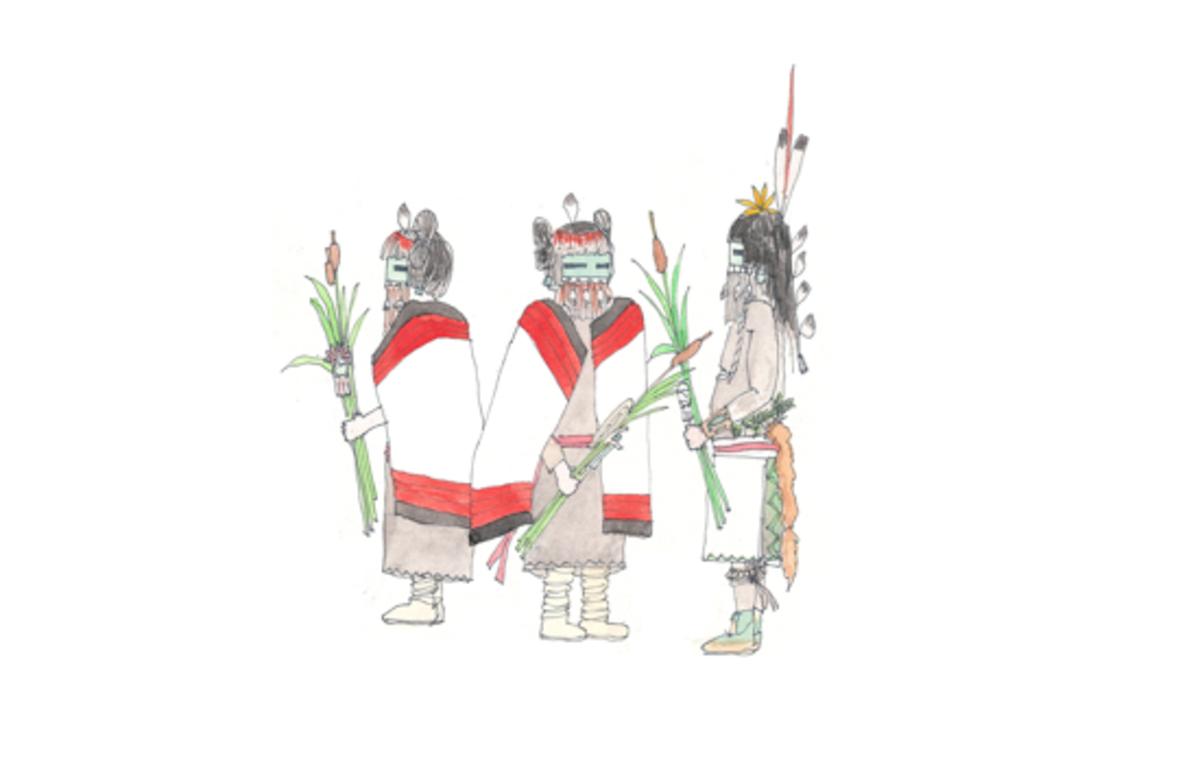 Illustrations de Katsinam – faites de mémoire – issues des cahiers de terrain de Patrick Perez
