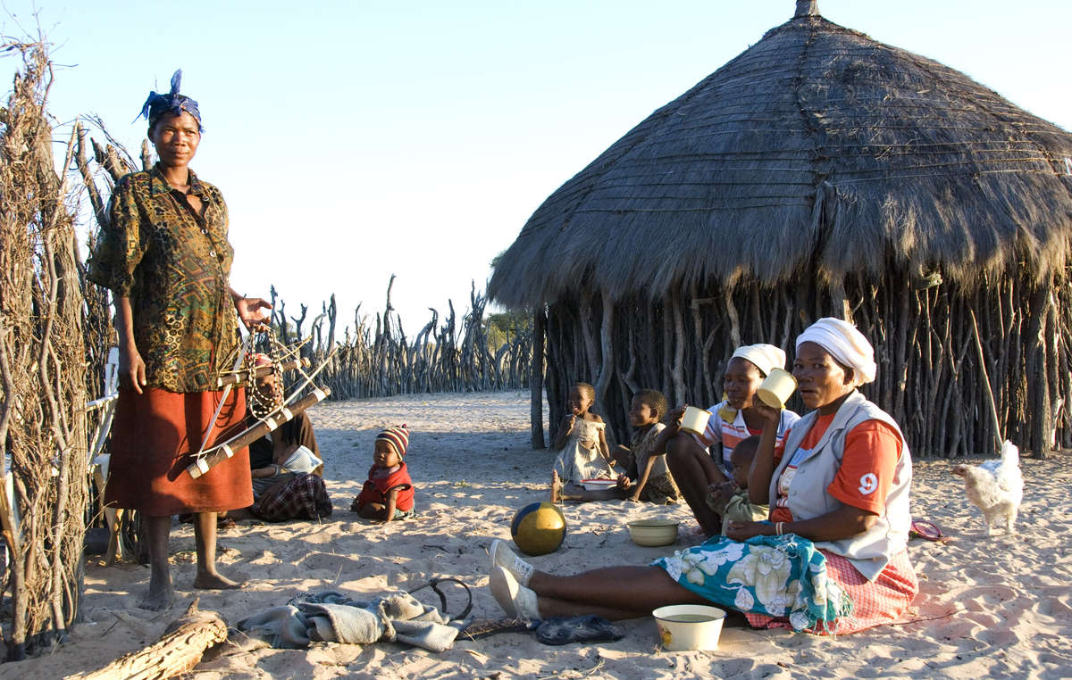 The Bushmen simply want to be left in peace in the Central Kalahari Game Reserve