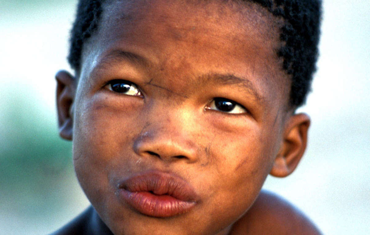 Bushman child, Central Kalahari Game Reserve, Botswana, 2004.
