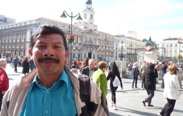 Ivaldo André ha viajado a Madrid para denunciar el asalto a los derechos indígenas en Brasil.