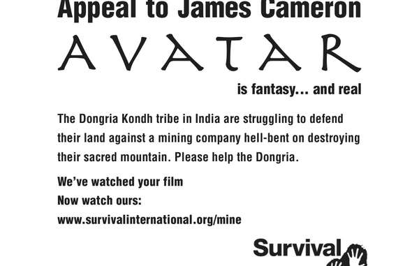 """Survivals Appell an James Cameron erscheint in der heutigen Ausgabe von """"Variety"""". © Survival"""