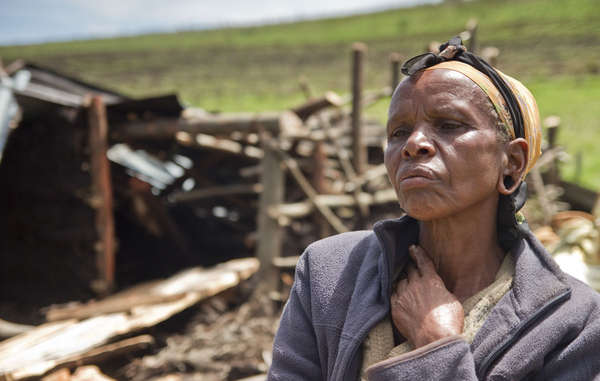 This woman's home was demolished during illegal evictions from Ogiek ancestral land.