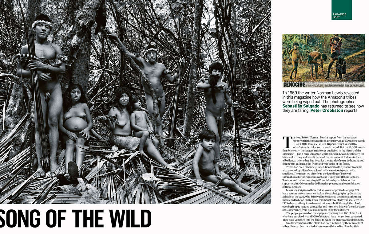 The pieces in the Sunday Times Magazine and Vanity Fair are both illustrated with images by world-renowned photographer Sebastião Salgado.